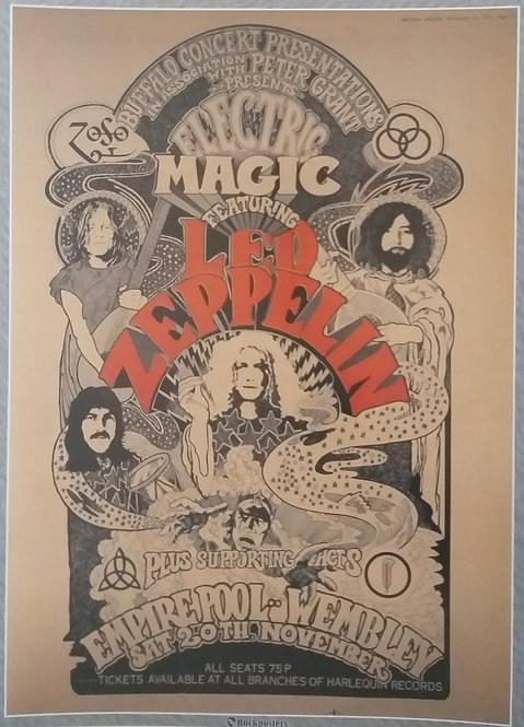 Led Zeppelin at the Empire Pool - Wembley