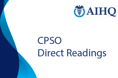 Direct Readings for Certified Patient Safety Officer (CPSO)