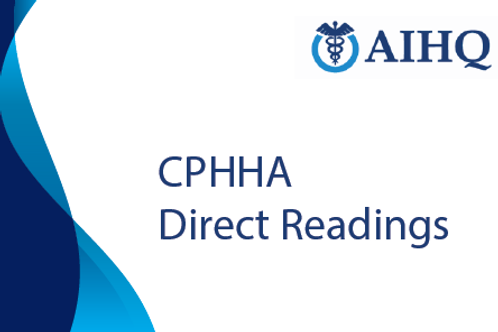 Direct Readings for Certified Professional in Health and Hospital Administration