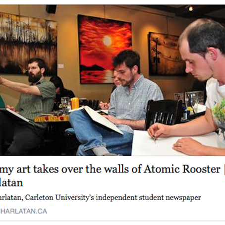 """""""Dreamy art takes over the walls of Atomic Rooster"""""""