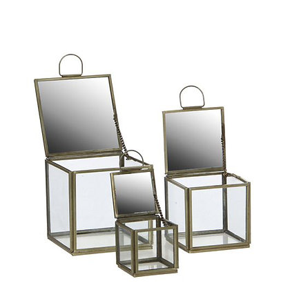 Decoratieve glazen doosjes