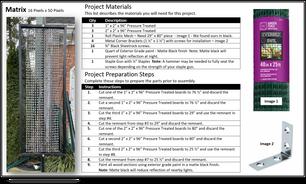 Construction Sheet 1 | Materials & Preparation