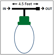Single RBB   This diagram shows the dimensions of a single bulb.