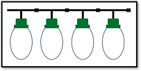 This diagram shows 4 RBBs connected as they will be used in the display.