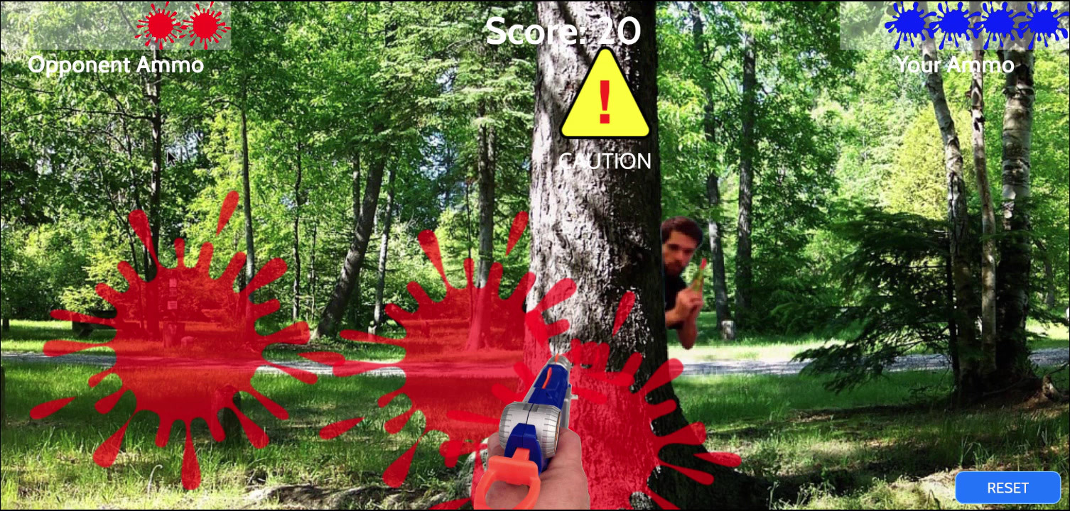 Immersive Paintball Game