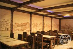 Оформление стен в ресторане