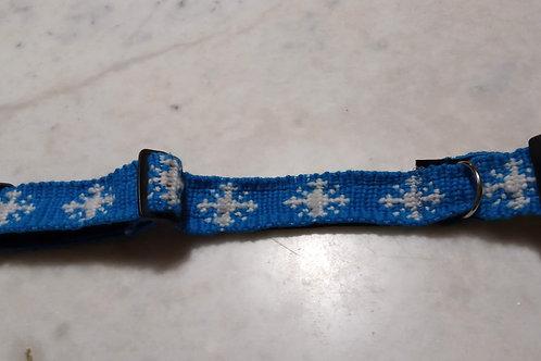 """Collier pour chien motif """"Flocons de neige"""""""