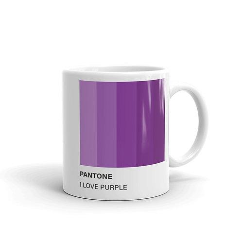 Mug Pantone I Love Purple