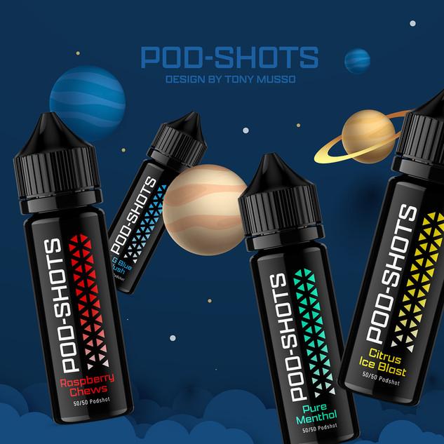 Podshot Vape Bottle Label Design by Tony
