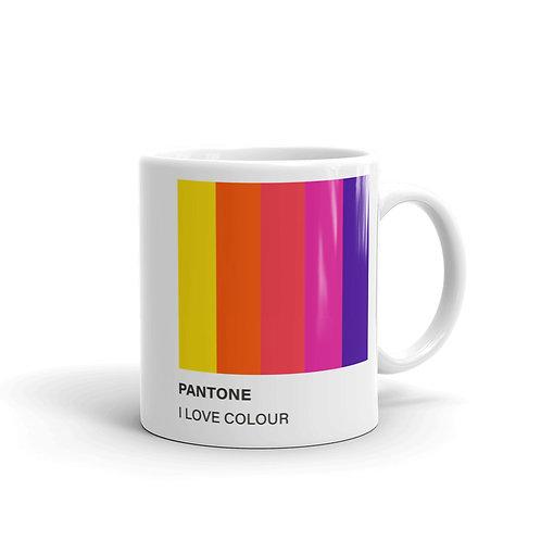 Mug Pantone I love Colour
