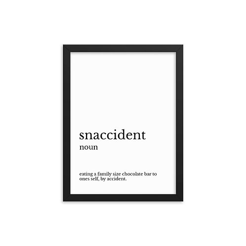 Funny Poster - Snaccident