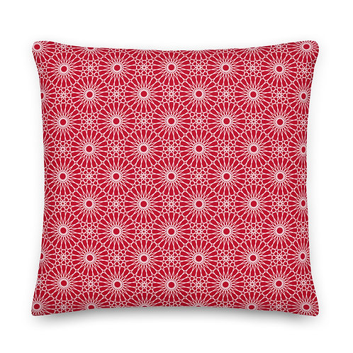 Geometric Pillow - Red