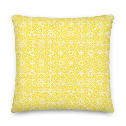 Geometric Pillow - Yellow