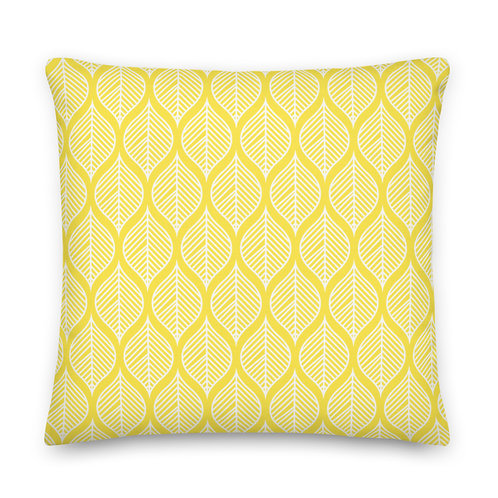 Yellow Pillow - Leaves