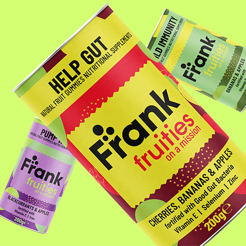 frank fruities tube design by Tony Musso