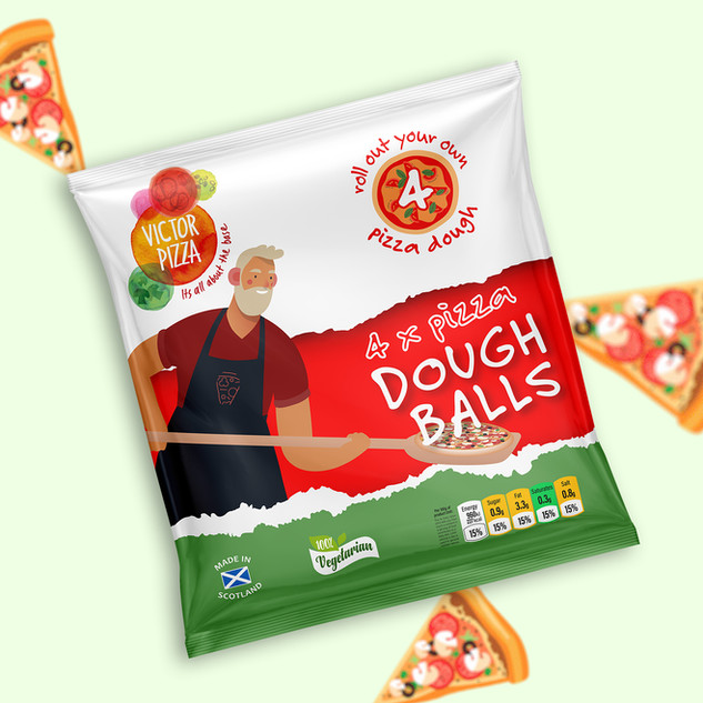 Victor Pizza Packaging Design by Tony Mu