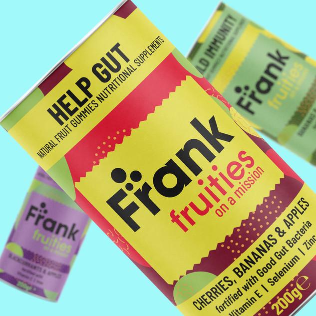 Frank Vitamin Gummies Tube Design by Ton