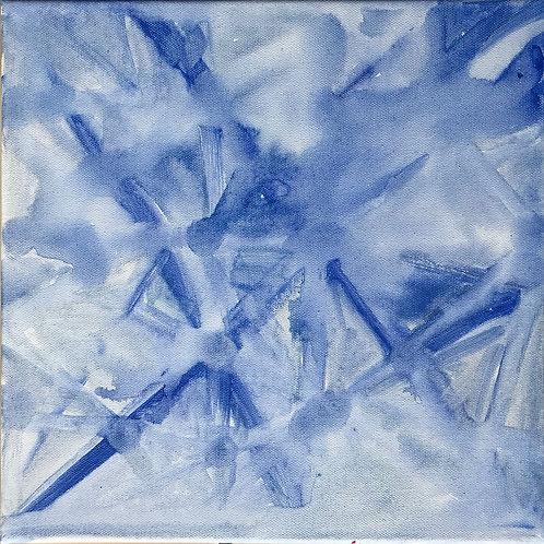Flocons bleus et blancs