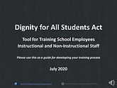 DASA Training for School Employees recor