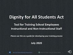 DASA Training for School Employees recor