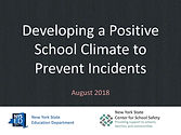 Developing a Positive School Climate - F