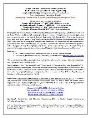 Emergency Response Plans Training Opport