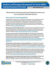 1. REMS MOU Resource List for K-12 Schoo
