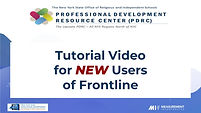 Frontline Tutorial Video for NEW Users o
