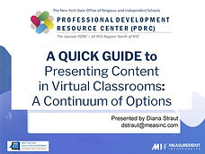A Quick Guide to Presenting Content Onli