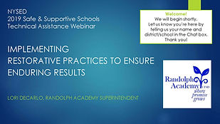 Implementing Restorative Practices to En
