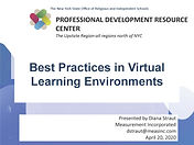 Best Practice in Virtual Learning Enviro
