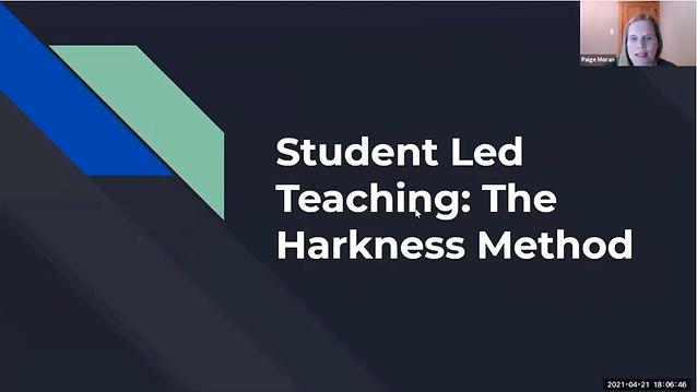 Student Led Teaching Webinar