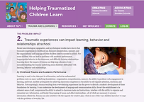 Traumatic experiences can impact learnin