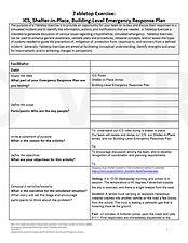 4. Tablestop Exercise ICS