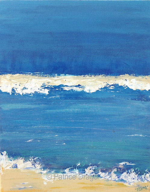 Sandbar II, Original marine art, acrylic painting by East Coast fine artist Patrice Drago