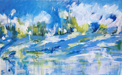 Summer Breeze, abstract acrylic painting by Patrice Drago