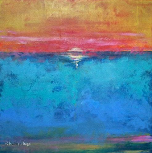 Glow, Original marine art, acrylic painting by East Coast fine artist Patrice Drago
