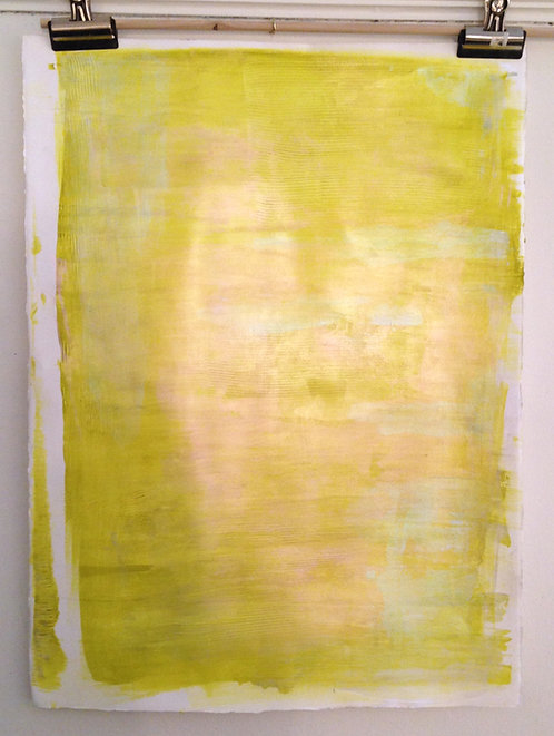 "Green-Gold, 22"" x 30"""