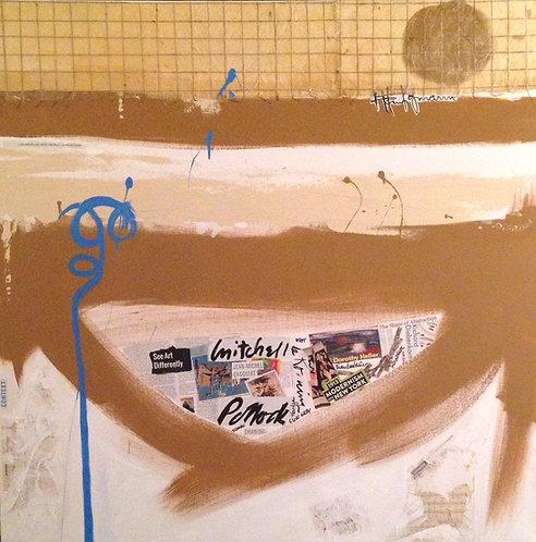 "Coffee & Conversations with Franz Kline & Robert Motherwell, 48"" x 48"""
