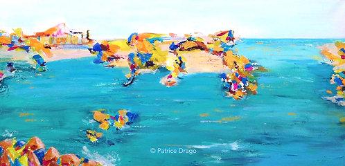 Coastline, Original marine art, acrylic painting by East Coast fine artist Patrice Drago