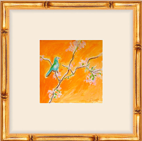 Bird & Cherry Blossoms -framed print