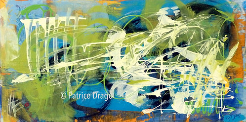 Quantum, abstract acrylic painting by Patrice Drago