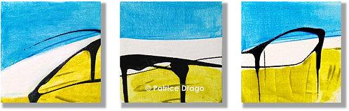 """Panorama, Triptych, 16 1/2"""" x 5"""""""