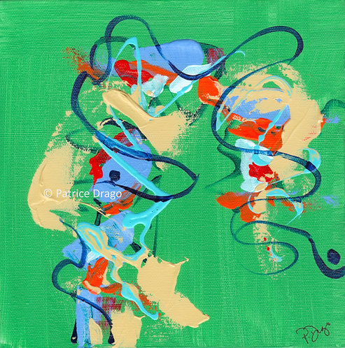 Tiny Dancer, abstract acrylic painting by Patrice Drago