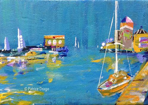 "Busy Dock, 8"" x 5"""