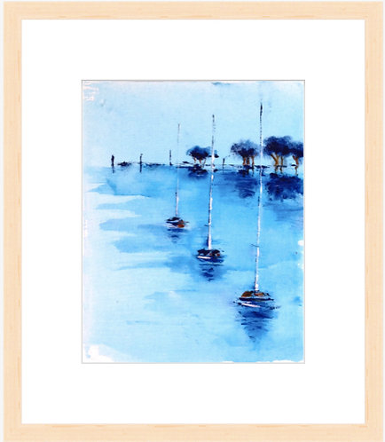 Quiet Day - framed print