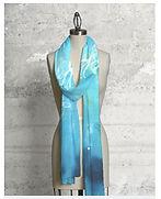 "Patrice Drago's ""Blue Lagoon"" scarf on shopVIDA.com"