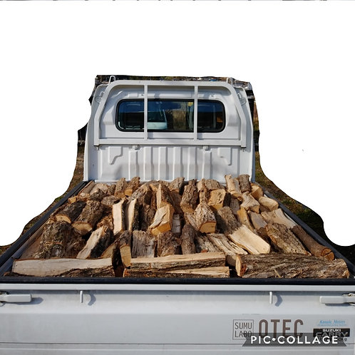 「現地取引限定商品」広葉樹ミックスの未乾燥薪軽トラック一杯
