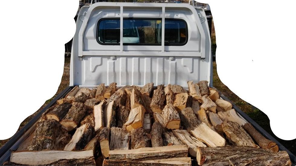 「現地取引限定商品」ナラの乾燥薪軽トラック一杯分