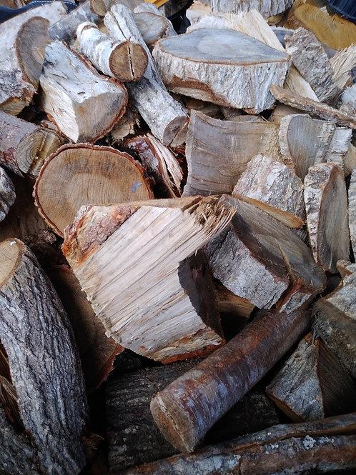 「現地取引限定商品」広葉樹の端材薪(乾燥済)軽トラック一杯